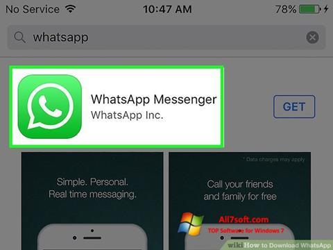 Снимка на екрана WhatsApp за Windows 7