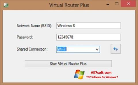 Снимка на екрана Virtual Router Plus за Windows 7