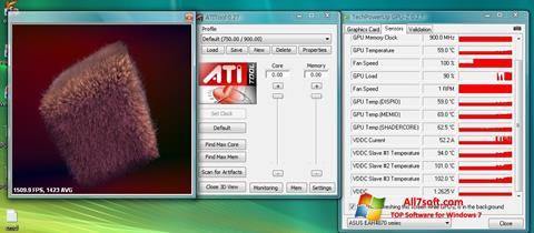 Снимка на екрана ATITool за Windows 7