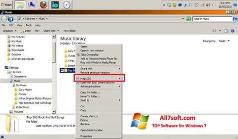 Снимка на екрана MagicISO за Windows 7
