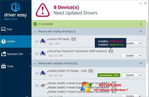 Снимка на екрана Driver Easy за Windows 7