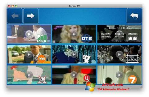 Снимка на екрана Crystal TV за Windows 7