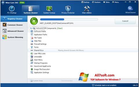 Снимка на екрана Wise Care 365 за Windows 7