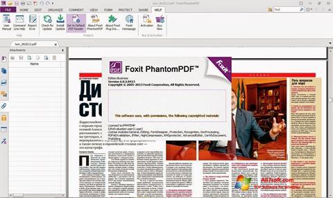 Снимка на екрана Foxit Phantom за Windows 7