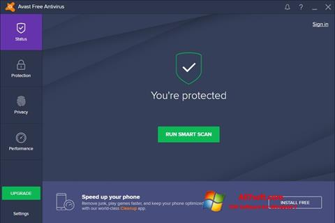 Снимка на екрана Avast Free Antivirus за Windows 7