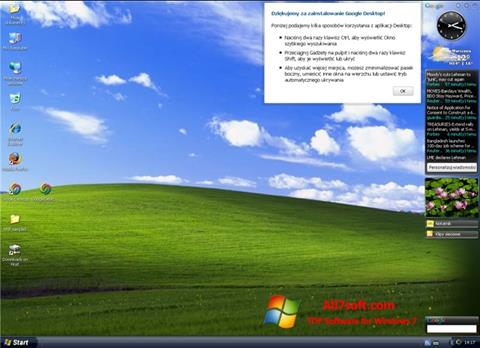 Снимка на екрана Google Desktop за Windows 7