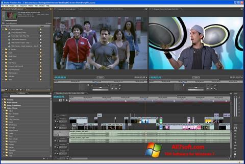 Снимка на екрана Adobe Premiere Pro за Windows 7