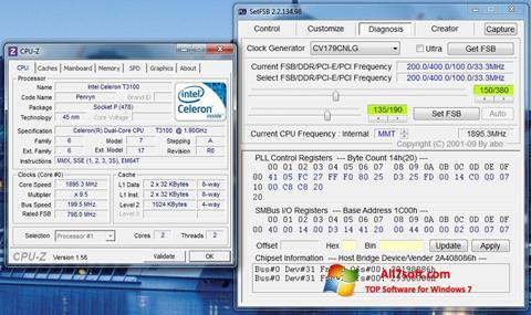 Снимка на екрана SetFSB за Windows 7