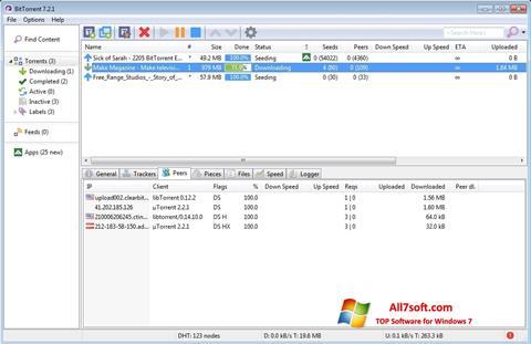 Снимка на екрана BitTorrent за Windows 7