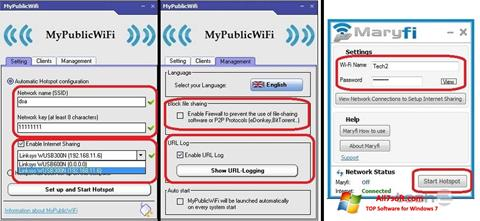 Снимка на екрана MaryFi за Windows 7