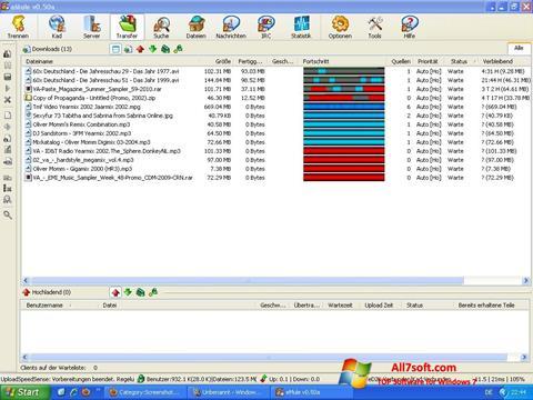 Снимка на екрана eMule за Windows 7