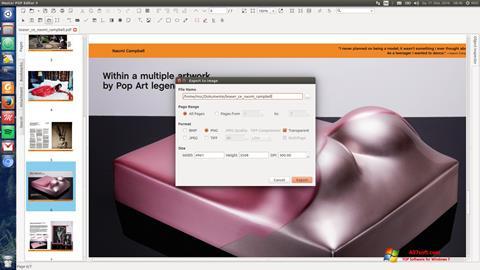 Снимка на екрана Master PDF Editor за Windows 7