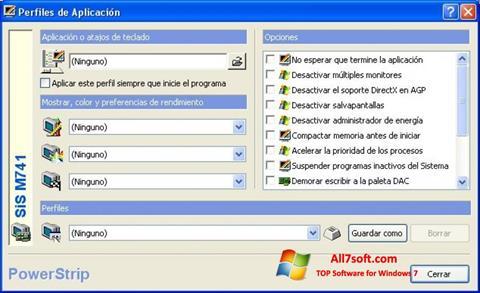 Снимка на екрана PowerStrip за Windows 7