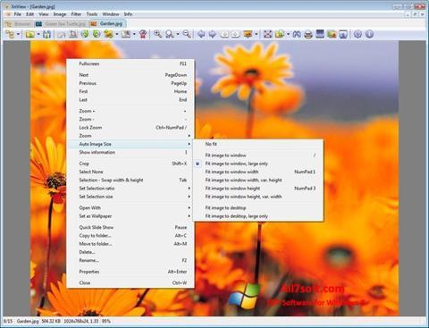 Снимка на екрана XnView за Windows 7