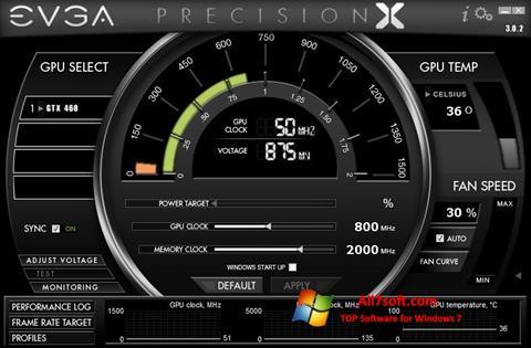 Снимка на екрана EVGA Precision X за Windows 7