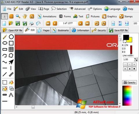 Снимка на екрана PDF Reader за Windows 7