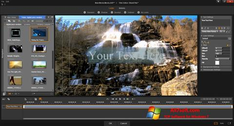 Снимка на екрана Pinnacle Studio за Windows 7