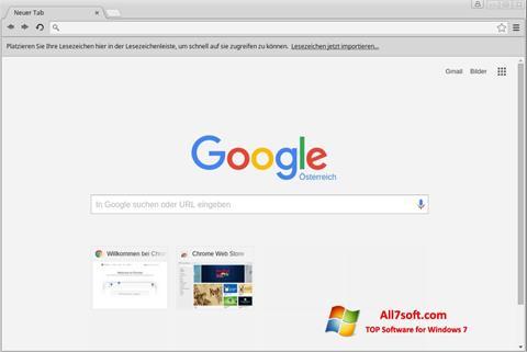 Снимка на екрана Google Chrome за Windows 7