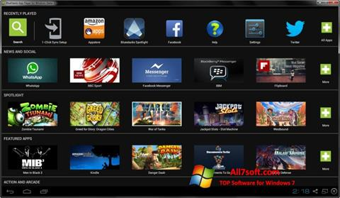 Снимка на екрана BlueStacks за Windows 7