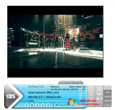 Снимка на екрана BSPlayer за Windows 7
