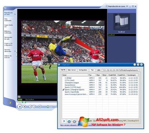 Снимка на екрана SopCast за Windows 7