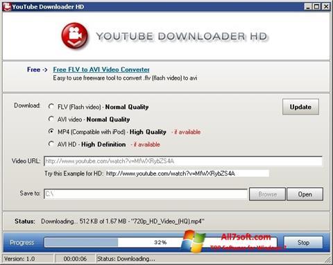 Снимка на екрана Youtube Downloader HD за Windows 7