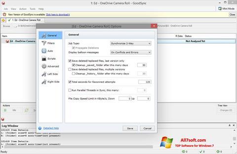 Снимка на екрана GoodSync за Windows 7