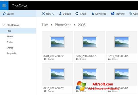Снимка на екрана OneDrive за Windows 7