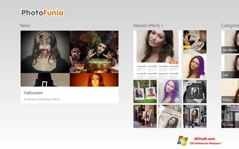 Снимка на екрана PhotoFunia за Windows 7