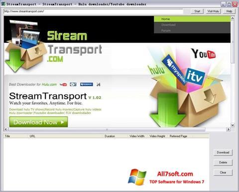 Снимка на екрана StreamTransport за Windows 7