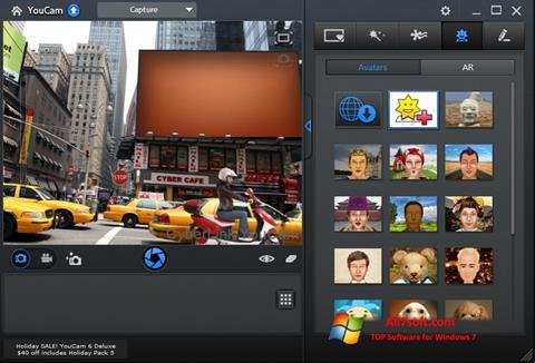 Снимка на екрана CyberLink YouCam за Windows 7